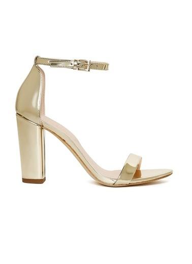 Aldo Kalın Topuklu Sandalet Altın